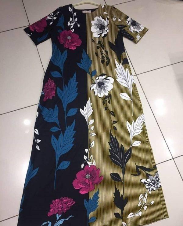 Flowered shift dress