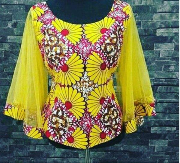 Flair hand Ankara blouse